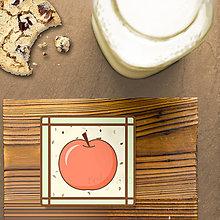 Dekorácie - Stracciatella potlač na koláčik ovocná edícia (jablko) - 8515656_