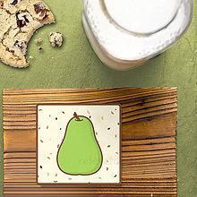 Dekorácie - Stracciatella potlač na koláčik ovocná edícia (hruška) - 8515660_