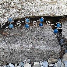 Dekorácie - Pidi cínovaný anjelik - Achát modrý (II.) - 8520669_