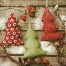 Papier - Servítka Vianočné stromčeky - 8518670_