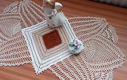 Úžitkový textil - *** Ananasy v béžových odtieňoch *** - 8519377_