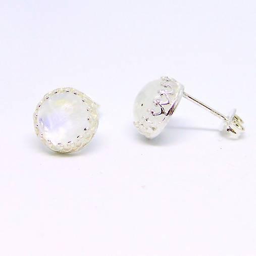 d88a64a6e Classic Moonstone Earrings & Silver Ag 925 / Strieborné náušnice s mesačným  kameňom /0510