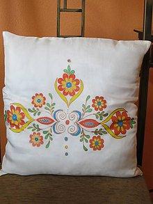 Úžitkový textil - Hodvábny vankúšik Ornament - 8520716_