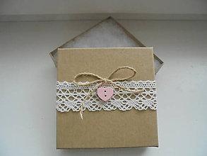 Krabičky - Darčeková krabička na náušnice - 8520778_