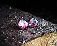 Náušnice - Ružovo-modré krúžky 12 mm - 8517579_