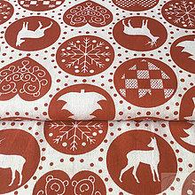 Textil - vianočné kolieska; 100 % bavlna, šírka 160 cm, cena za 0,5 m - 8518150_