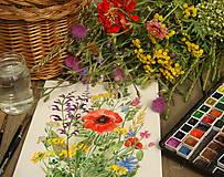 Lúčne kvety 2 , tlač A4