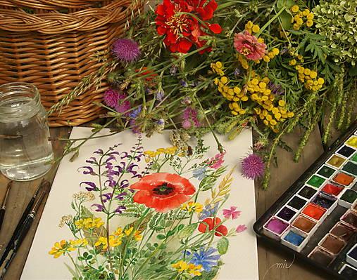 Lúčne kvety 2, tlač vo veľkosti A4