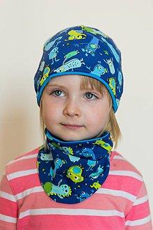 6d34477bfa6d Detské čiapky - Detská čiapka a nákrčník - modrá - 8520775