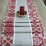 - Krása tradície červená - stredový obrus 148x41 - 8518304_