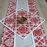 - Krása tradície červená - obrúsok štvorec 39x39 - 8518314_