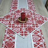 - Krása tradície červená - obrus štvorec 53x53 - 8518422_