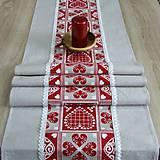 - Krása tradície červená - stredový obrus 150x40 - 8518824_