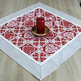 - Krása tradície červená - obrus štvorec 66x66 - 8519099_