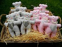 - Medvedík Pink & Grey, 17 cm - 8517697_