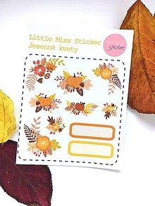 Drobnosti - Jesenné kvety (nálepky) - 8518502_