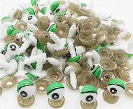 Galantéria - Očká na hračky zelené 12mm - 8520464_