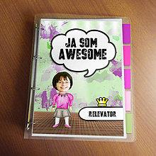 """Papiernictvo - Ja som awesome ,,všetkozošit"""" (fľakatý - luxusná) - 8519148_"""