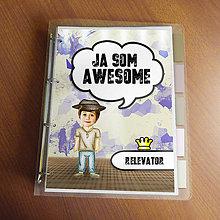"""Papiernictvo - Ja som awesome ,,všetkozošit"""" (fľakatý - fešák v klobúku) - 8520408_"""