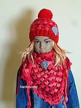 Cervena supravicka zimna so srdieckom SKLADOM
