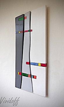Obrazy - drevený obraz abstract 6 - 8522075_