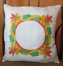 Úžitkový textil - Hodvábny vankúšik Ornament II - 8522974_