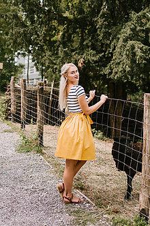 Sukne - Zavinovací sukně hořčicová - 8521198_
