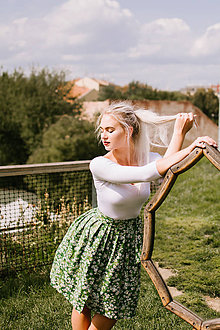 Sukne - Zavinovací sukně Sedmikrásky - 8521222_