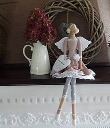 Bábiky - Staroružová anjelka - 8521712_