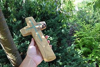 Dekorácie - Krížik z agátového dreva - svietiaci - 8521721_