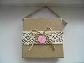 Krabičky - Darčeková krabička na náušnice - 8521246_