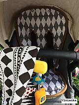 Textil - Bugaboo Seat Liner Graphic Grace fabric/ Podložka do kočíka Bugaboo/ Joolz SCANDI graphic grace black and white - 8521331_