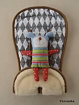 Textil - Bugaboo Seat Liner Graphic Grace fabric/ Podložka do kočíka Bugaboo/ Joolz SCANDI graphic grace black and white - 8521346_