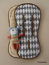 Textil - Bugaboo Seat Liner Graphic Grace fabric/ Podložka do kočíka Bugaboo/ Joolz SCANDI graphic grace black and white - 8521347_