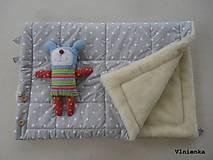 Textil - Deka DANIEL 2 v 1 100% merino Top Super wash BODKA pastelová piesková - 8522135_