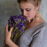 Náušnice - Les Libellules - vyšívané náušnice - 8522214_