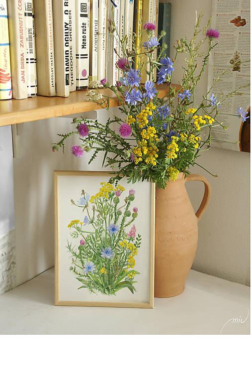 Lúčne kvety 1, tlač vo veľkosti A4