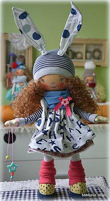 Bábiky - Modrý zajko - 8521629_
