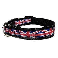 Pre zvieratká - Obojok Union Jack čierny - 8521850_