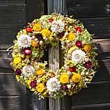- Jesenný slamienkový veniec na dvere - 8521675_