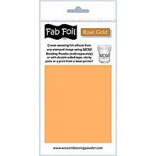 Pomôcky/Nástroje - Wow! Fab Foil Rose Gold - zlato-ružová metalická fólia (0,1 x 1 m) - 8521518_