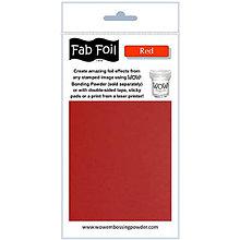 Pomôcky/Nástroje - Wow! Fab Foil Red - červená metalická fólia (0,1 x 1 m) - 8521521_