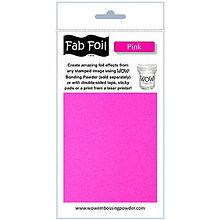 Pomôcky/Nástroje - Wow! Fab Foil Pink - tmavoružová metalická fólia (0,1 x 1 m) - 8521543_