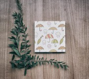 Papiernictvo - Leporelo 13x13 ,,Mráčiky a dáždničky,, - 8521673_