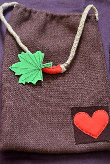 Veľké tašky - Red heart bag - 8521048_
