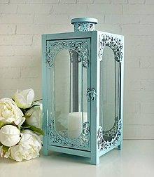 Svietidlá a sviečky - Turqoise India lampáš - 8522122_