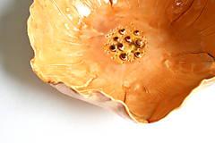 Nádoby - Keramická miska Oranžový kvet - 8521967_