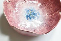 Nádoby - Keramická miska Ružový kvet - 8521997_