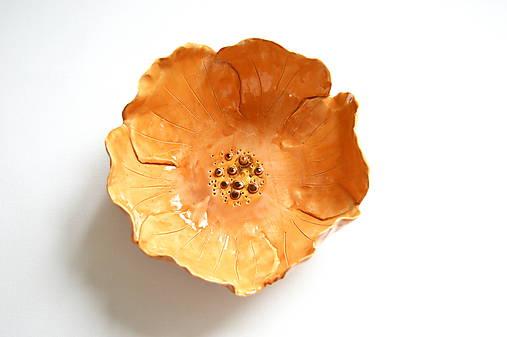 Keramická miska Oranžový kvet