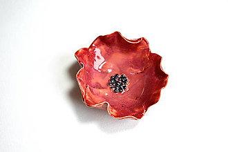 Nádoby - Mini keramická miska Maková - 8521885_